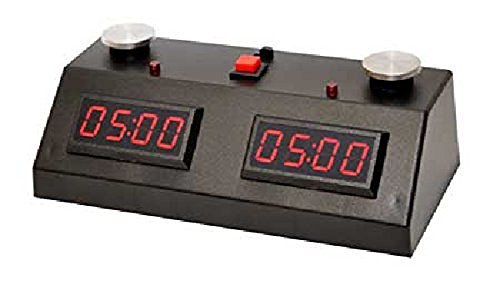 ZMart Fun II Digital Chess Timer Black with Red LED