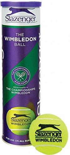 Slazenger Wimbledon Ultravis Sports Training Tennis Match Pack Of 12 Balls - Pack Slazenger