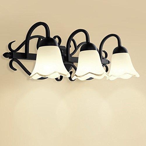 AGECC 110-230V Wandleuchte für den Innenbereich Dresser, Wandlampe, Spiegel, Doppelkopf, Kopf 3, Schminktisch, Wandlampe, Schlafzimmerlampe, Schwarzes 2-Kopf-Gehäuse