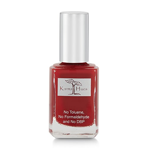 Bordeaux Stock - Karma Organic Natural Nail Polish-Non-Toxic Nail Art, Vegan and Cruelty-Free Nail Paint (Bordeaux)