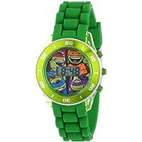 Nickelodeon Kids TMN4008reloj para adolescentes Mutant Ninja Turtles Reloj con Banda de goma, color verde