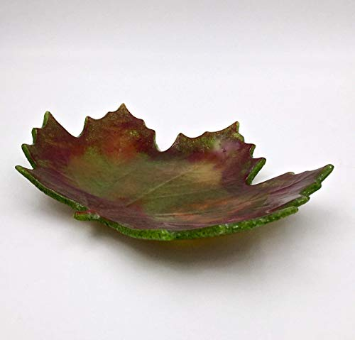 Maple Leaf Fused Glass Decorative ()