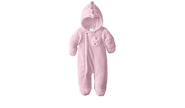 b1664fbbb5d0 Amazon.com   ABSORBA Baby-Girls Newborn G Fuzzy Plush Snowsuit