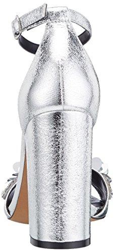 Alla Di Argento 001 317 Sandali Elaborazione Buffalo Donne Delle Caviglia 0740 argento Cinghia Dell'unità Cuoio ztt0qwC