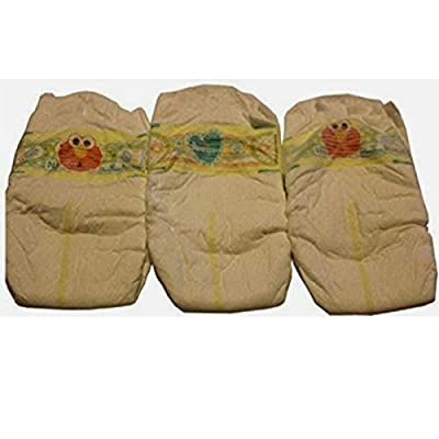 Reborn UNISEX Baby Doll THREE PIECE Elmo Pamper Set Boy Girl Diapers Nappy: Toys & Games