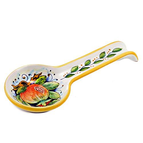 DERUTA: Spoon rest POMEGRANATE (also wall hung) [#7010/A-SEG] by DERUTA Collection