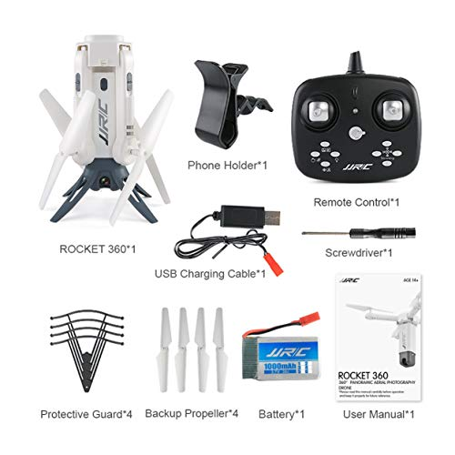anyilon JJR/C H51 RC Helicopter Rocket-Like 360 WiFi FPV Selfie Elfie Drone with Camera HD 720P Altitude Hold RC Quadcopter ()
