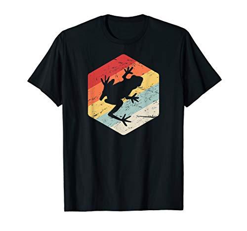 Retro Red Eyed Tree Frog T-Shirt / Pet Amphibian Gift