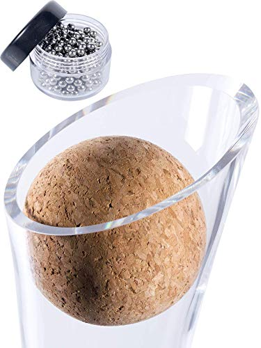 Plaisir de la Cave Wine Decanter Cork Stopper & Stainless Steel Cleaning Beads Accessories