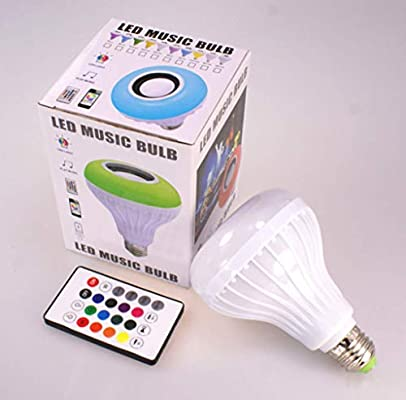 Kids Fun Color Changing Bluetooth Remote Control Speaker Light Bulb