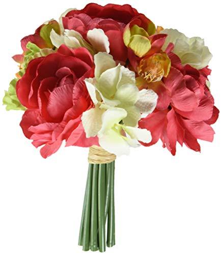 Vickerman FQ172601 Cerise Green/Orange Gerbera/Poppy Floral Bush