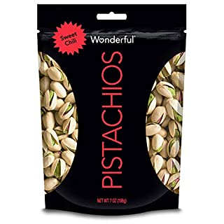 Wonderful Pistachios, Sweet Chili Flavored, 7 Ounce Resealable Pouch