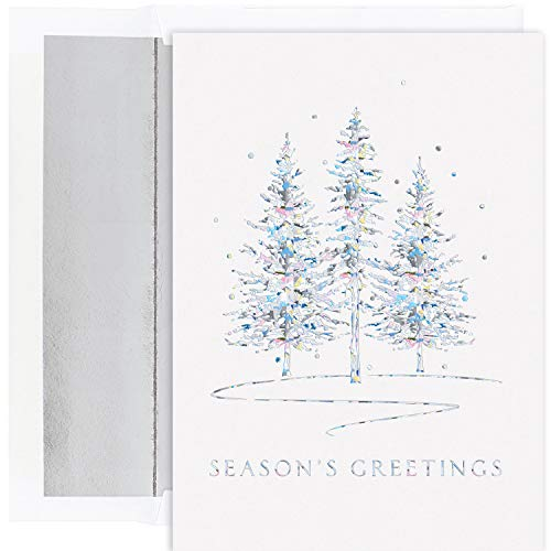 Masterpiece Studios Holiday Collection 16 Cards / 16 Foil Lined Envelopes, Winter Treeline ()