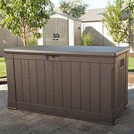 Lifetime Outdoor Deck Storage Box 116 Gallon, Brown