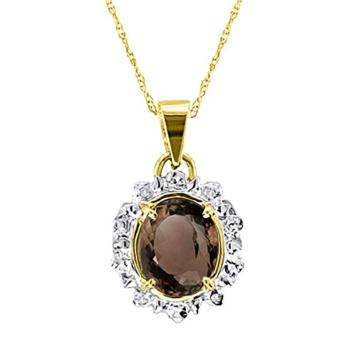 ond Pendant Necklace 14K Yellow Gold ()