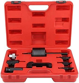 Ejoyous 8tlg Diesel Injektoren Auszieher Abzieher Werkzeug Satz Common Rail Injektor Extractor Diesel Puller Set Passt Mit Box Auto