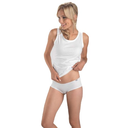3par de Hanes para mujer ropa interior calzoncillos breve tanga tanga White - Hipster