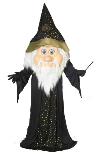 Forum Novelties Men's Plus-Size Oversized Wizard Costume, Black/Gold, Standard