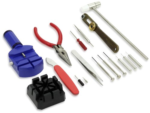 [GGI International WTK-16 16 Piece Watch Repair Kit] (Link Deluxe Adult Kit)