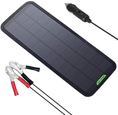 GIARIDE Cargador Solar Sunpower Panel Módulo Solar de 12V Baterías Cargador de Coche Portátil Fotovoltaico para Coches, Caravana, Moto, Bote, Barco ...