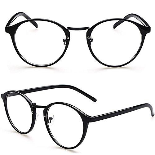 Amrka Retro Round Nerd Glasses for Women Men Vintage Eyeglasses with Round Clear Lens 56mm Unisex - Geek Glasses Chic