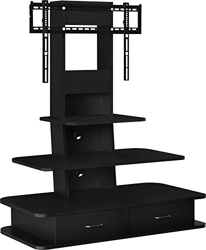 "Ameriwood Home Galaxy TV Stand with Mount and Drawers for TVs up to 70"" Wide, Black"