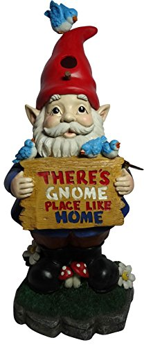 Alpine Corporation Solar 'There's Gnome Place Like Home' Gnome Statue-Tm