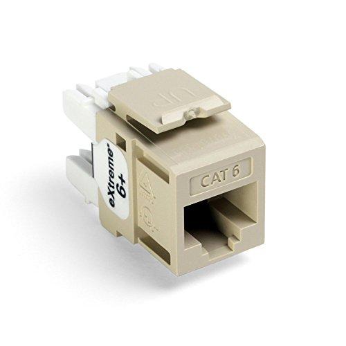 - Leviton 61110-RI6 eXtreme 6+ QuickPort Connector, CAT 6, Ivory