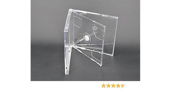 Vision Media - 10 x Estuches Dobles Transparentes para CDs - Espina de 10.4mm