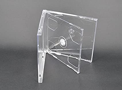 Vision Media - 10 x Estuches Dobles Transparentes para CDs - Espina de 10.4mm