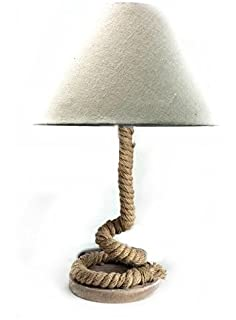 Modern Home Nautical Pier Rope Table Lamp   Large