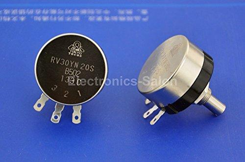 Electronics-Salon 1PCS RV30YN 20S B502 5K OHM 1W Carbon Potentiometer