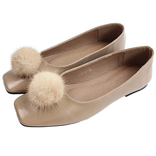 de Zapatos y Planos FLYRCX Boca Retro Suaves Trabajo B cómodos señoras Baja Zapatos Moda r0IqP4IB