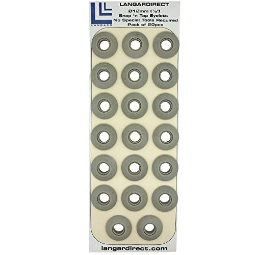 Langard color gris 20 unidades Ojales de 12 mm