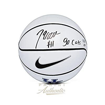 "John Wall Autographed Nike University of Kentucky White Panel Basketball with""Go Cats"" Inscription ~Limited Edition to 22~ - Panini Authentic - Panini Certified"