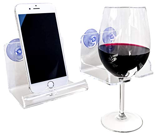 Atlas Hold Acrylic Beer Holder Bathtub Wine Glass Holder, Suction Phone Holder -