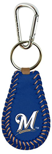 GameWear 1 Pc, Milwaukee Brewers Team Color Baseball Keychain