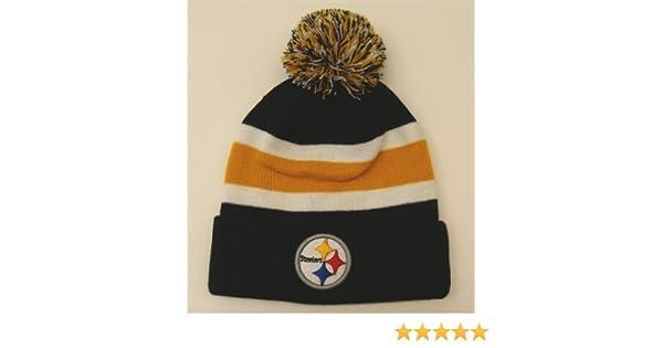 7a285931 Pittsburgh Steelers Breakaway Pom Top Cuff Knit Hat Beanie