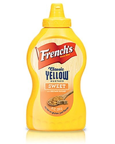 French's, Classic Yellow Flavored Mustard, 14oz Bottle (Pack of 2) (Choose Flavors Below) (Sweet)