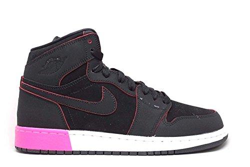Jordan Retro 1High Negro/black-hyper Pink-White (Big Kid) Black/Black-hyper Pink-white