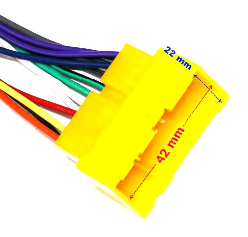 Adaptador A1 con ISO cables enchufes para autoradio AERZETIX
