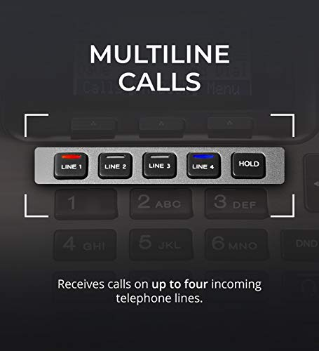 RCA U1000 Unison 4-Line Expandable Phone System - Full-Duplex Speakerphone Bundle with RCA U1200 DECT 6.0 Cordless Accessory Handsets (4-Pack) and 6 Blucoil AAA Batteries by blucoil (Image #5)