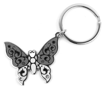HY-KO PROD CO KB366-Bkt 15PC Metal Butterfly Ring