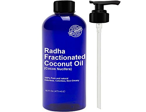 Radha Beauty Fractionated Coconut Oil - 100% Pure & Natural Carrier...