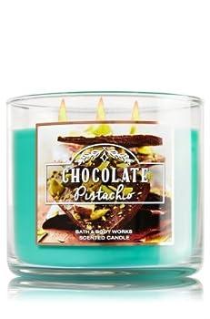 Bath & body Works CHOCOLATE PISTACHIO 3 wick candle NEW