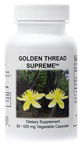 Supreme Nutrition Golden Thread Supreme, 60 Pure 545 mg Coptis Chinensis Capsules