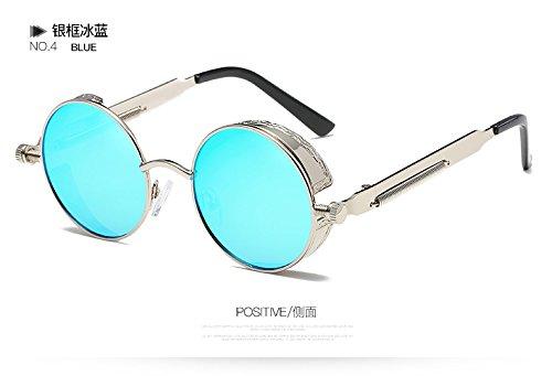 Círculo Gafas Rotonda De Oro De TIANLIANG04 Gótico Hombre 58028C4 Espejo Desde Gafas Sol Metal El Mujer Steampunk De Gafas De Del 58028C6 De Sol Vintage RwdfqZw