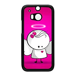 Cute Angel - Pink Black Hard Plastic Case Snap-On Protective Back Cover for HTC? One M8 by Madotta + FREE Crystal Clear Screen Protector
