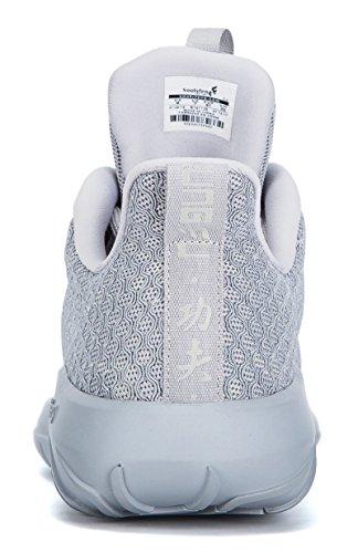 Running Men Polar Glow Women Sneakers Fashion Shoes in Grey Dark soulsfeng Unisex Casual Lining Fleece znRzqd