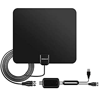 Upgraded 2018 Version HD Digital TV Antenna – Best 55 Miles Range High-Definition with HDTV Amplifier Signal Booster Indoor- Amplified 19 ft Coax Cable - Free Channels